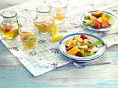 Fruit salad and fruit juice