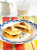 Cochayuyo and chestnut pancakes