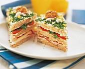 Three flavored sandwich