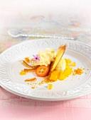 Plate of orange and kumquat delicacies