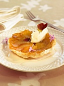 Apple tatin tartlet