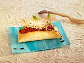 Flaky pastry strawberry dessert