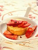 Breton shortbread cookie with strawberries
