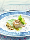 Seabream with cabbage
