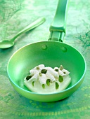 Cream of mascarpone with melon