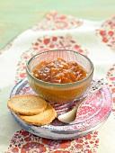Peach-mango marmelade