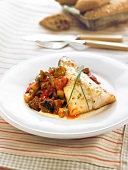Cod and ratatouille