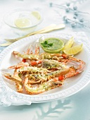 Dublin Bay prawns, garlic and fresh herb sauce