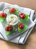 Cherry and mint jelly bites