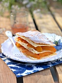 Apricot and rosemary Mille-feuille