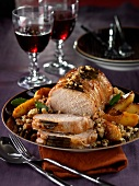 Roast pork with crumbled bread