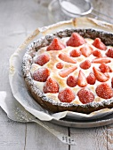 Strawberry and meringue pie