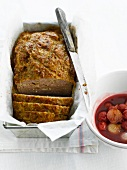 Meat loaf with cherry sauce