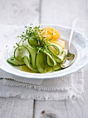 Sweet and sour cucumber and carrot salad