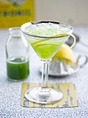 Gin-cucumber Gimlet cocktail