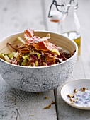 Radicchio, pancetta,raisin and apple salad