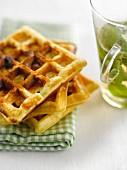 Fruit waffles,infusion