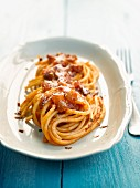 Spaghettis all'amatriciana