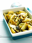 Baked potatoes with herbs