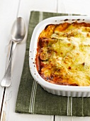 Vegetarische Lasagne mit Zucchini, Tomaten- und Bechamelsauce