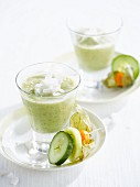 Cucumber, kiwi and coconut smoothie
