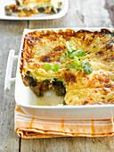Lasagne mit Lammfleisch und Kürbis