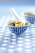 Creme Brulée mit Matcha-Tee