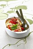 Stewed tomato savoury Crème brûlée