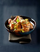 Chicken wings with honey and ginger