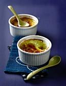 Green tea Crèmes brûlées