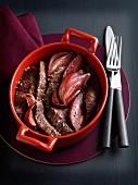 Sirloin,shallot and garlic casserole