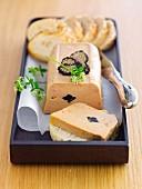 Foie gras terrine with truffles