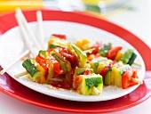 Mini vegetable brochettes