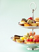 Sweet delicacies on a presentation dish