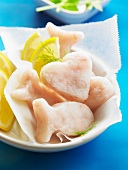 Funny shaped raw frozen fish for kids