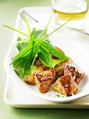 Pan-fried foie gras bites