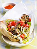 Kebab-style lamb brochettes