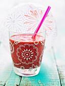 Cherry-rose smoothie