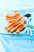 Salmon sashimis