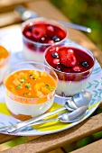Fromage blanc with stewed fruit