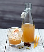 Spicy grapefruit juice