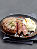Grilled beef fillet in marinade