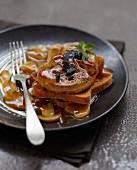 Foie gras escalope in madeira sauce