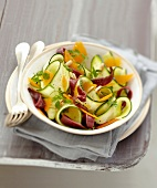 Zucchini,mimolette and duck magret salad