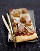 Foie gras pizza