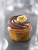 Choco-banana cupcake