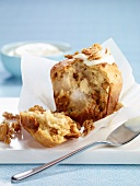 Pear, cereal and dried fruit muffins