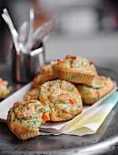 Mini haddock,carrot and tarragon cakes