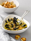 Mussel and mushroom soup