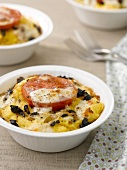 Polenta cheese-topped dish